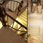 monastero santa rosa spa staircase mural